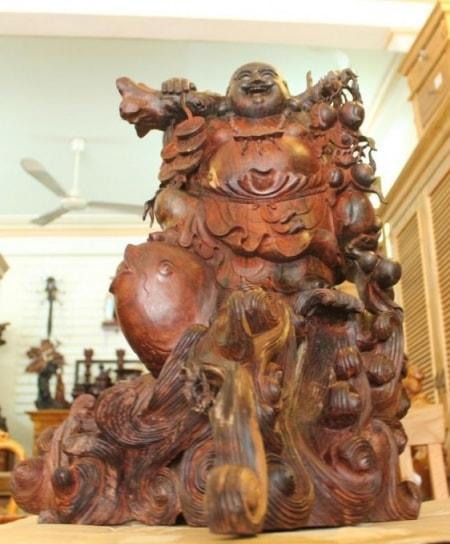 xem cách đặt tượng Phật Di Lặc trong nhà